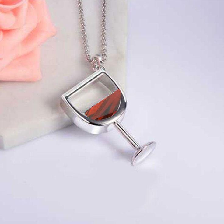 Wine Glass Necklace – Wine O'Clock Somewhere  #wine #jewelry #moms #Christmas #Gift