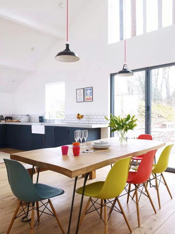 Mixing And Matching Eames Dining Chairs Has To Be My Favorite Way