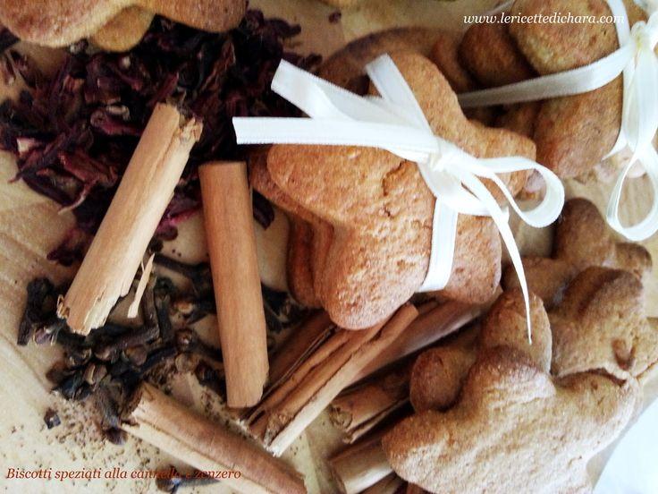 LE  RICETTE DI CHARA: Biscotti speziati allo zenzero e cannella
