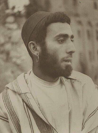 Jewish Amazigh man in Morocco, around 1935.   THE LIBYAN  Esther Kofod  www.estherkofod.com
