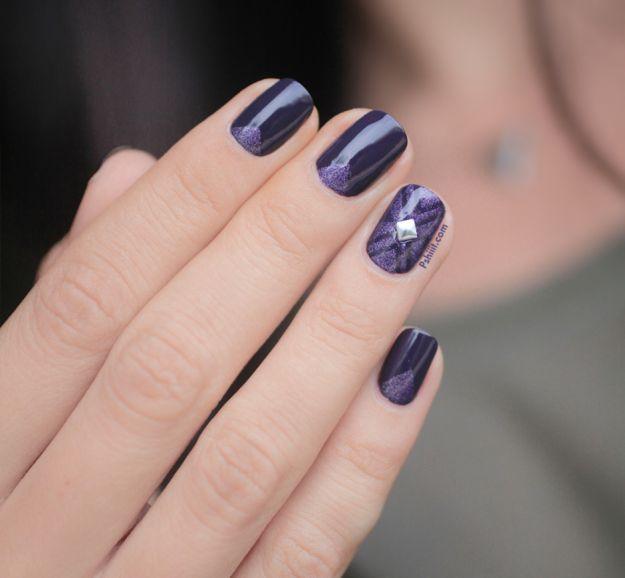 """Сливовый маникюр """"геометрия"""" ::: onelady.ru ::: #nail #nails #nailart #manicure"""