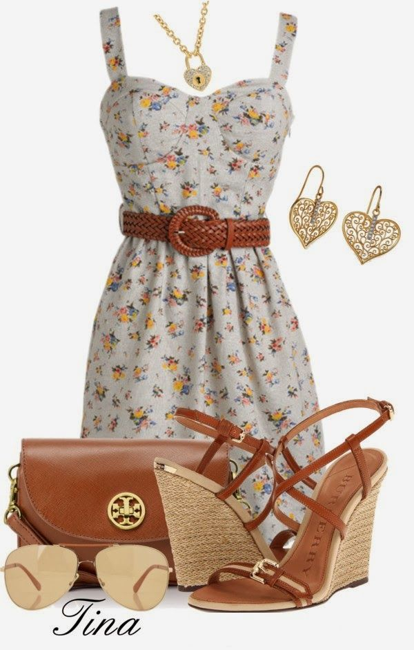 Get Inspired by Fashion: Spring Outfits | Floral Dress, those shoes though!