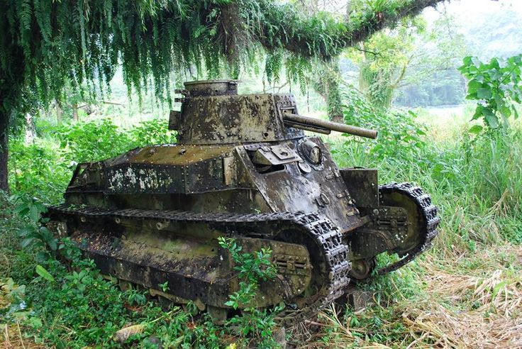 Japanese tank Type 89 Yi-Go In Bougainville still !
