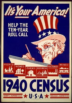 It's Your America - Vintage 1940 U.S. Census Poster