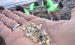 plastic pellets on Whiskey Island
