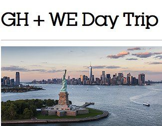 Win a $4,700.00 3-day/2-night trip for four to New York, NY, car service from airport to hotel and four lower bowl tickets to attend WE Day New York in Fall 2017.    Fill in the fields to get 1 FREE issue of Good Housekeeping and be automatically entered.