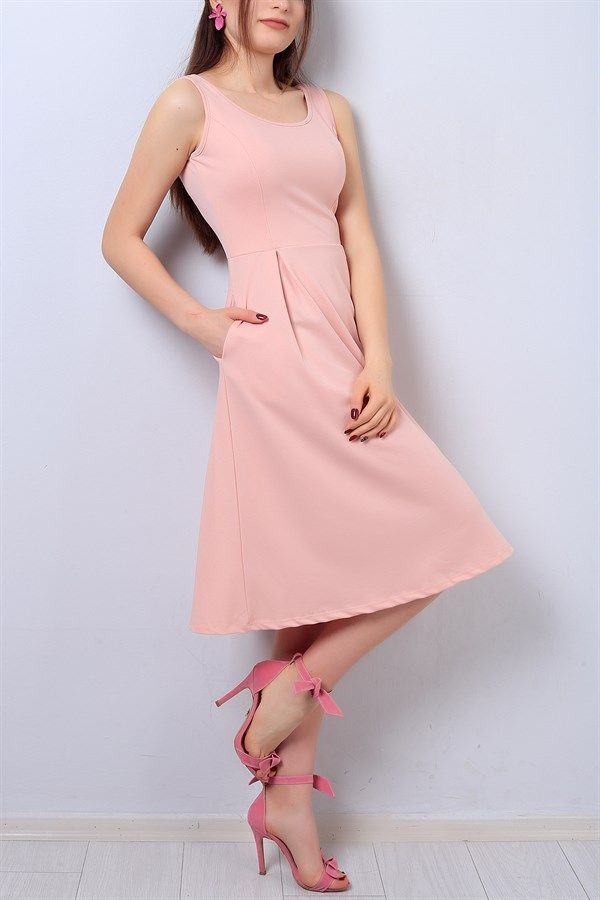 27 95 Tl Pembe Bayan Cepli Elbise 14301b Modamizbir Elbise Moda Stilleri Mankenler