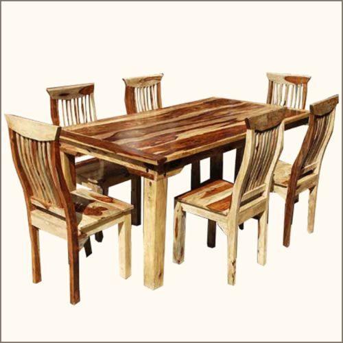Rustic 8 Person Large Kitchen Dining Table Solid Wood 9 Pc: 17 Best Images About Dining Tables & Chairs On Pinterest