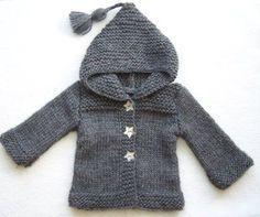 Lil hood jacket star buttons