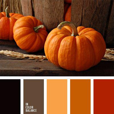 amarillo rojizo, anaranjado, color calabaza, color otoño, colores para Halloween, colores para la decoración, elección del color, negro y anaranjado, paletas de colores para decoración, paletas para un diseñador, rojo anaranjado.