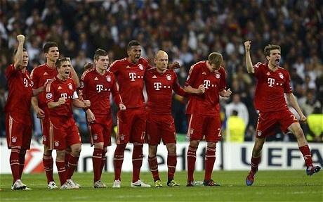 Bayern Munich beat Real Madrid on penalties to reach final.