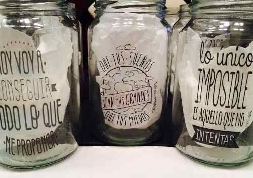 frascos de mermelada como vasos - Buscar con Google                                                                                                                                                      Más