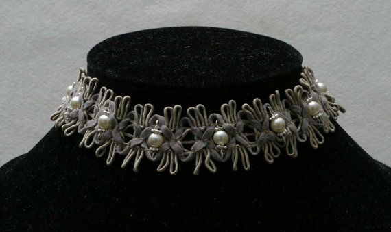 Victorian Style Choker with Swarovski Mother of by BeccsCreations, $45.00