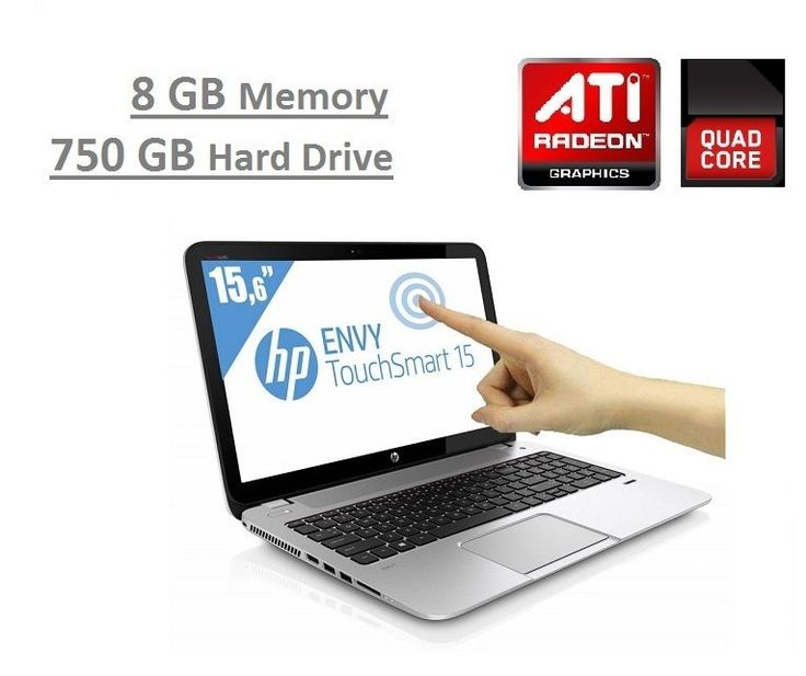 "HP ENVY Touchsmart 15.6"" AMD Quad-Core 3.1GHz Turbo 8GB 750GB Beats HDMI Laptop $325 only #HP"