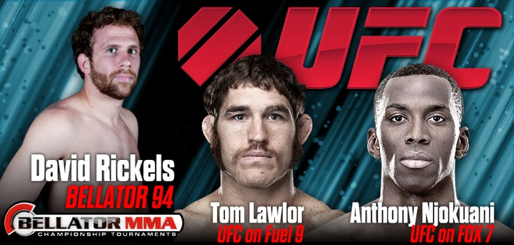 Upcoming fight banners for Anthony Njokuani, Tom Lawlor & David Rickels! #MMA #UFC #Bellator
