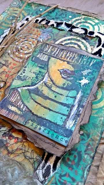 PaperArtsy: 2017 #18 Torn, Ripped, Burnt: Boho Journal with EEA {by Kate Yetter}