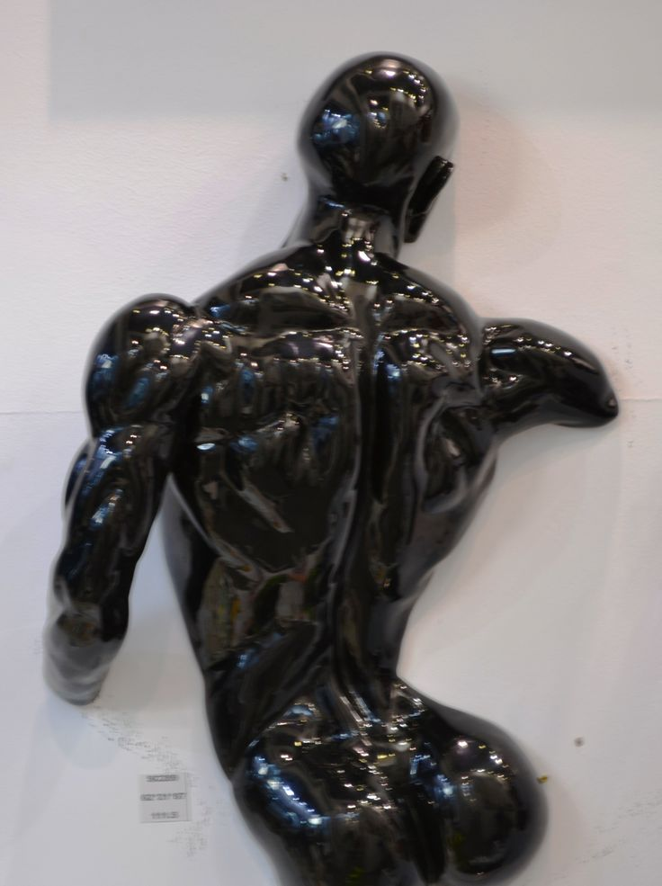 Gorgeous man sculpture in black. Enjoy it