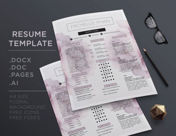 Creative CV template / resume templatet  cover by ChicTemplates