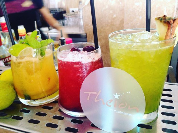 No filter needed for these refreshing #cocktails ! Made by Ramona Purdea | #patmosaktis #theionbar  www.patmosaktis.gr