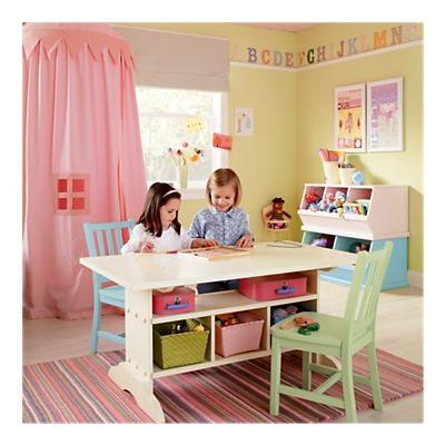 playroomPlayrooms Ideas, Kids Furniture, Plays Tables, Kids Room, Girls Room, Room Ideas, Crafts Tables, Girls Playrooms, Plays Room