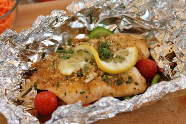 grilling recipes | Healthy Recipe for Grilled Fish in Foil on the BBQ Grill
