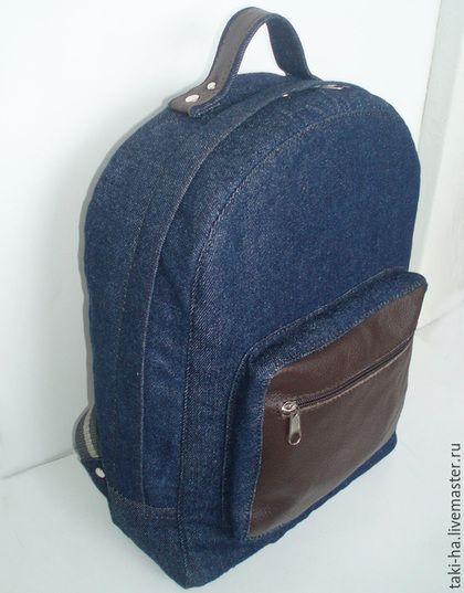 Рюкзаки ручной работы. Ярмарка Мастеров - ручная работа. Купить Детский джинсовый рюкзак. Handmade. Темно-синий, детский рюкзак