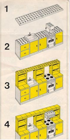 LEGO Kitchen Instructions 263, Homemaker                                                                                                                                                                                 More