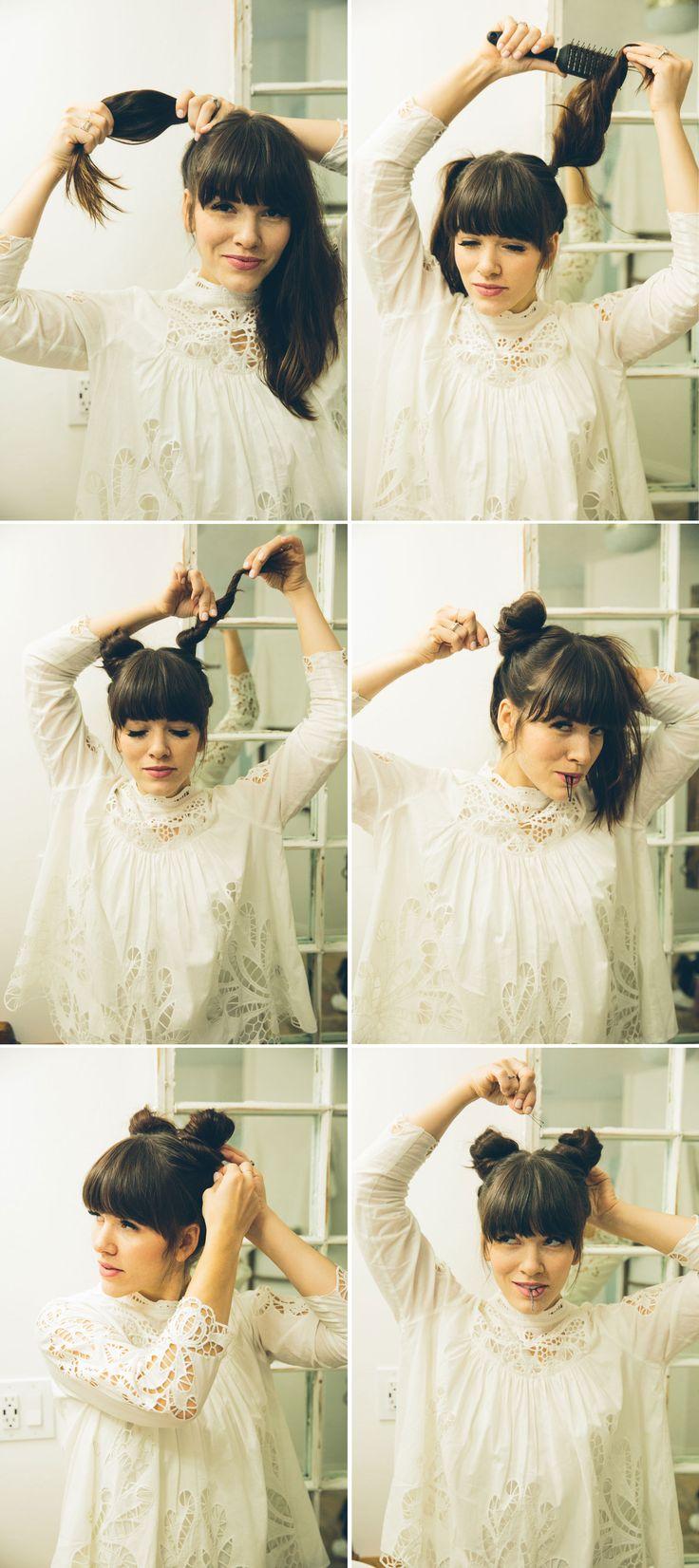 Wondrous The 25 Best Double Buns Ideas On Pinterest Hair Buns Twist Short Hairstyles Gunalazisus