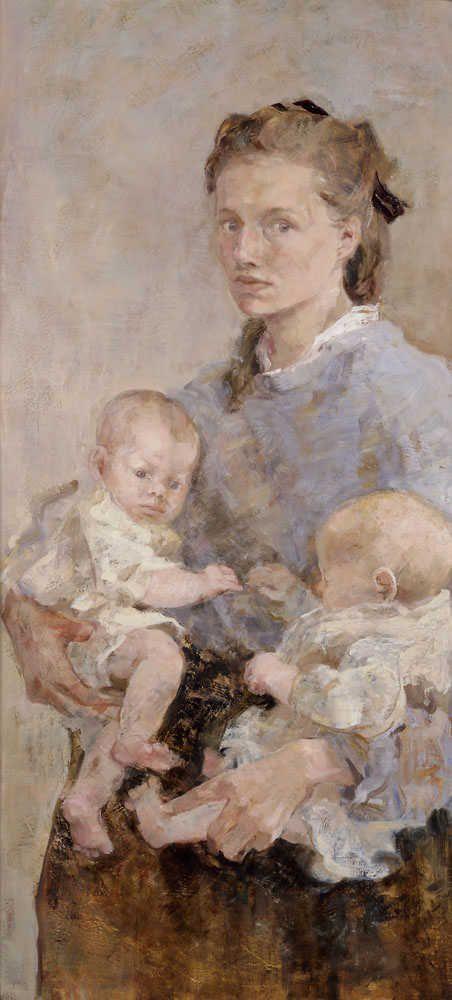 'Two Babies', 1987 - Emily Patrick (Carroll Foundation Award Winner)