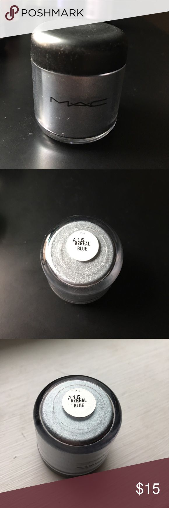 Mac cosmetics Azreal Blue pigment eyeshadow FULL Mac cosmetics Azreal Blue pigment eyeshadow FULL MAC Cosmetics Makeup Eyeshadow