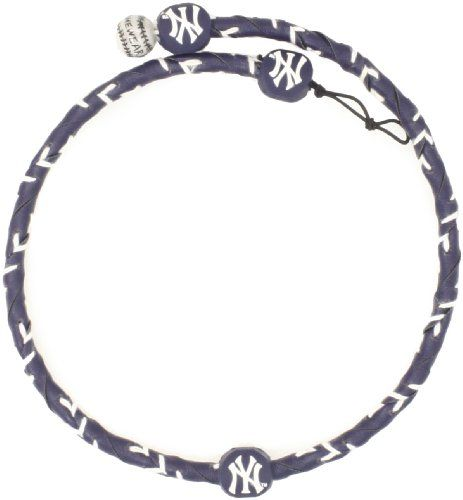 MLB Team Color Frozen Rope Baseball Necklace - New York Yankees  http://allstarsportsfan.com/product/mlb-team-color-frozen-rope-baseball-necklace/?attribute_pa_color=new-york-yankees  Adjustable Clasp Made from Genuine Leather Officially Licensed