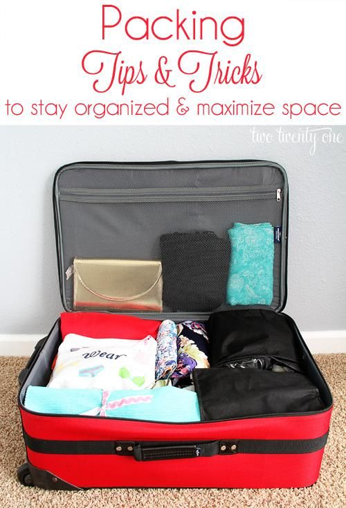 Packing Tips and Tricks to Stay Organized and Maximize Space. For summer camps, vacations, & road trips.
