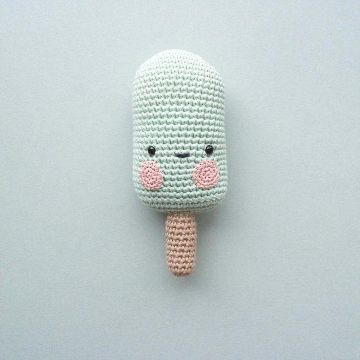 Icecream rattle crochet - Without pattern