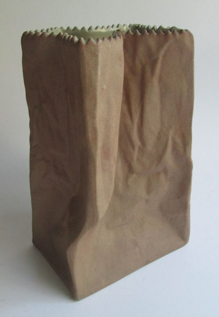 Paper bag vase, designed 1977 by the Finnish designer Tapio Wirkkala for Rosenthal Studio Linie Germany by SCALDESIGN on Etsy