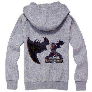 Jogo League of Legends camisola para homens manga longa Draven fecha acima o hoodie