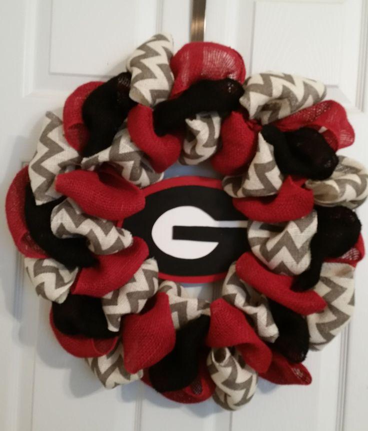 Georgia Burlap Wreath https://www.facebook.com/terris.treasures.12