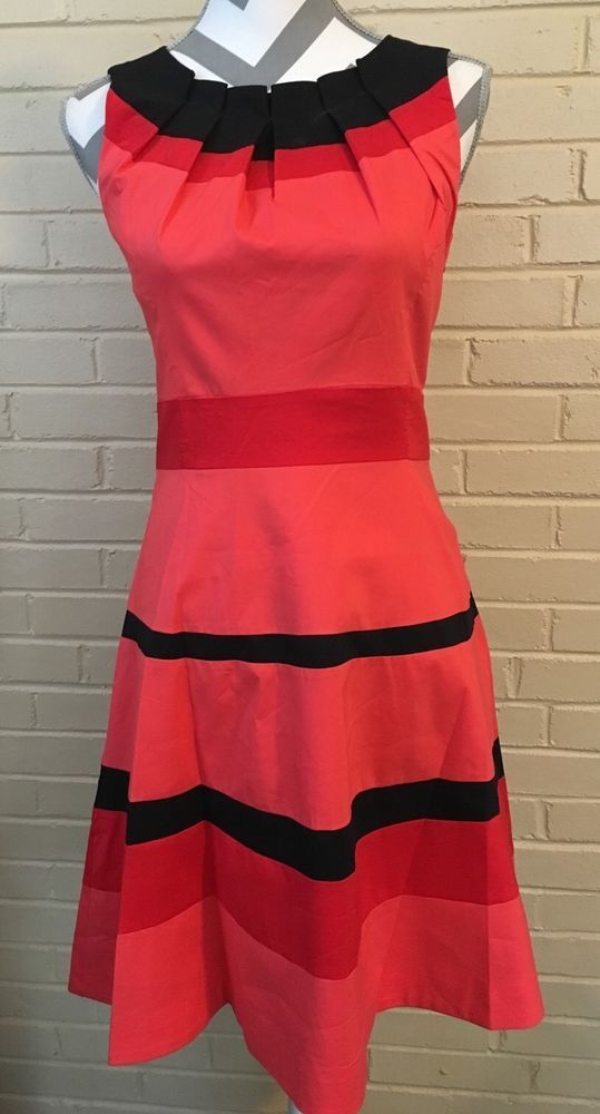Yuzhongxiehou Red and Orange Tea Dress Ladies Size 8 Perfectly Tailored | eBay