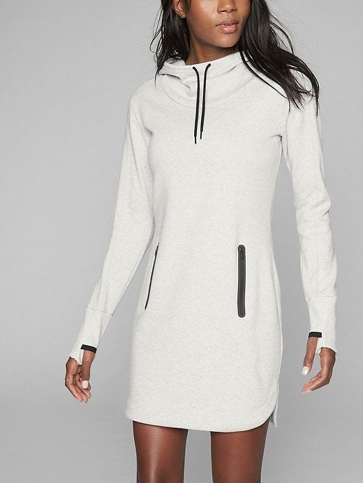 ATHLETA - Our super-soft wear-everywhere dress has front zip pockets and an adjustable hood to keep you (and your stuff) safe and snug.INSPIRED FOR: adventure To Fro , adventure travel2 POCKETS: bonded secure front zipAdjustable drawstring hood *AFFILIATE