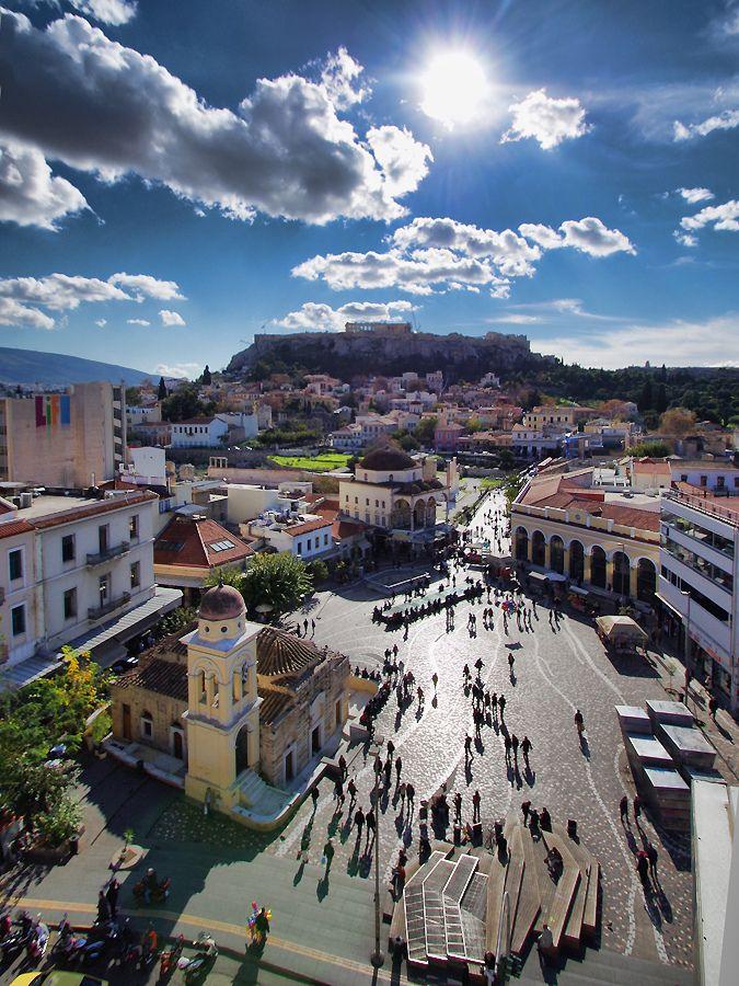 #Monastiraki Sq, flea market ~ Down town #Athens, Sweet #Attica region