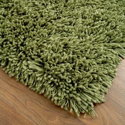 Ultra Shag, Aloe green shag rug.