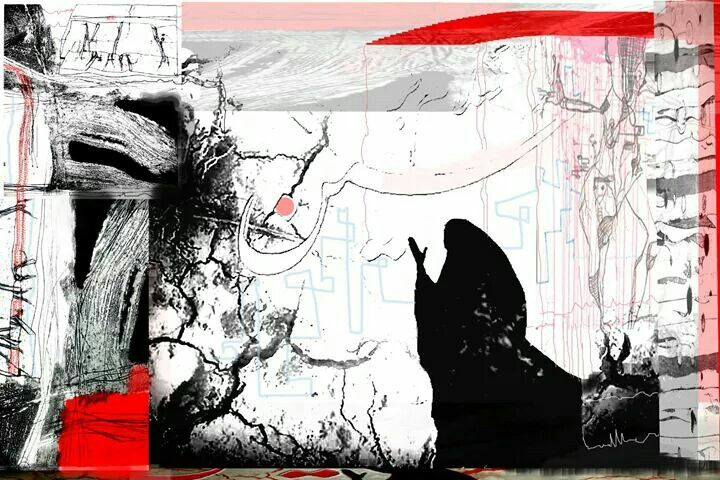 Ya hussein...drawn by me Digital-printmaking.
