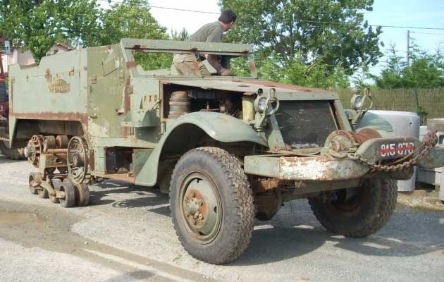 M16 half-track needing restoration and for sale in France ...