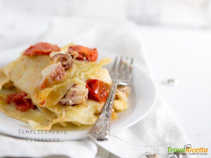 Lasagne di pesce  in bianco  #ricette #food #recipes