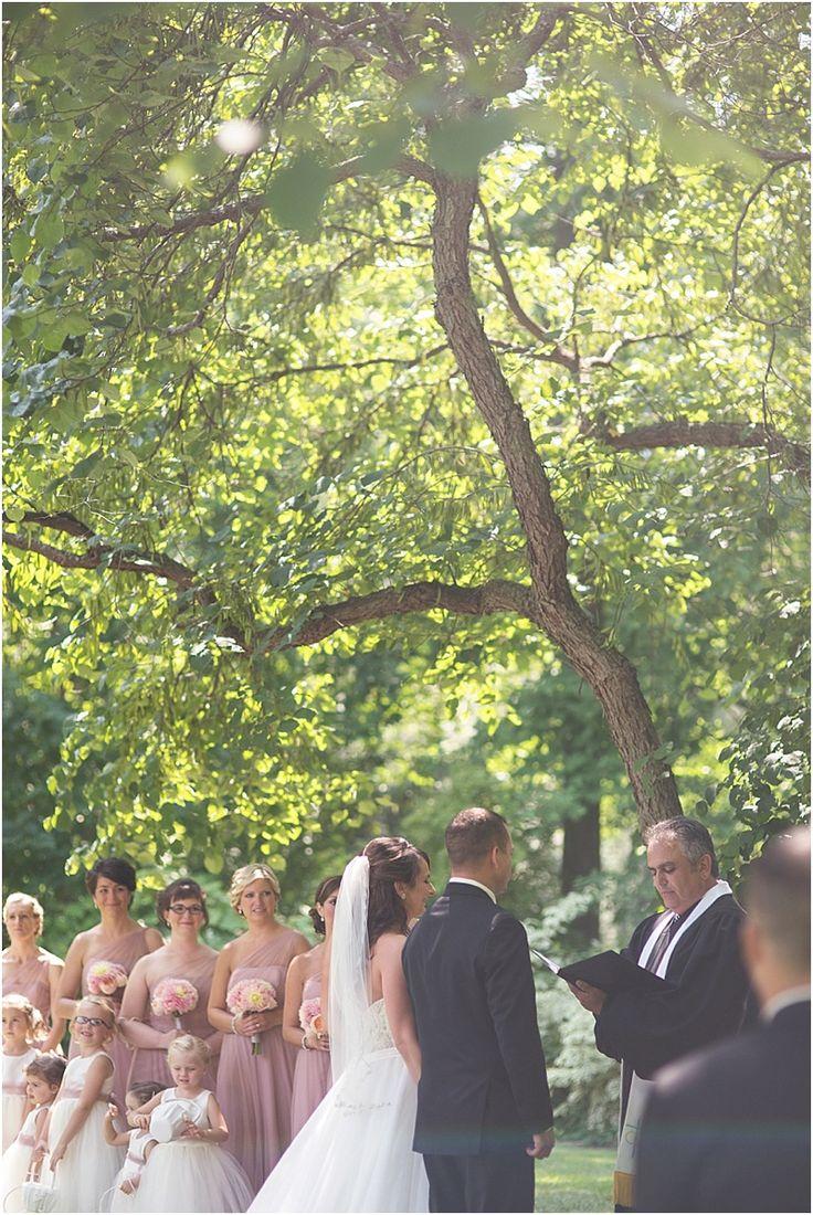 Peninsula Wedding Ceremony At Dow Gardens Midland Michigan Courtesy Of Miranda Parker Photography