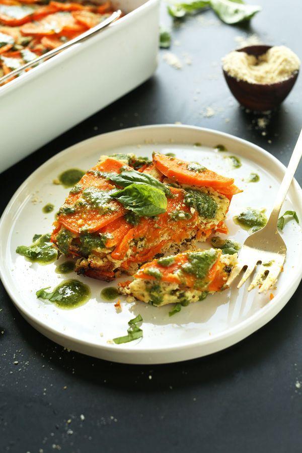 Vegan Sweet Potato Lasagna! 9 ingredients, simple methods, BIG flavor! #healthy #vegan #glutenfree #lasagna #recipe #minimalistbaker