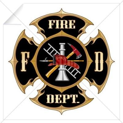 Fire Department Maltese Cross Vintage Wall Decal