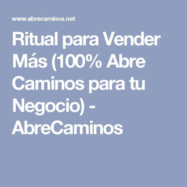 Ritual para Vender Más (100% Abre Caminos para tu Negocio) - AbreCaminos