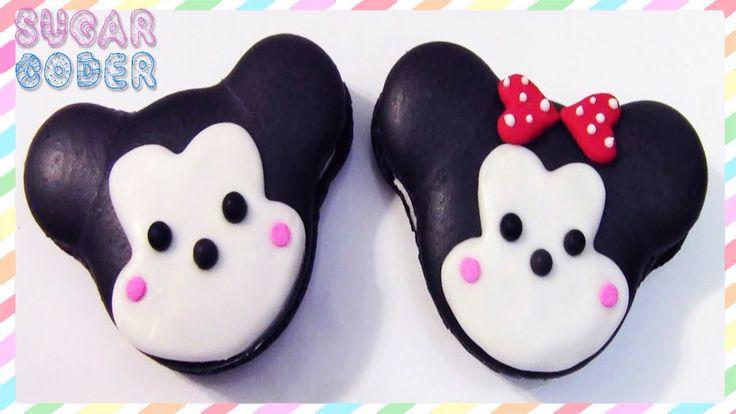 Minnie and Mickey macaroons