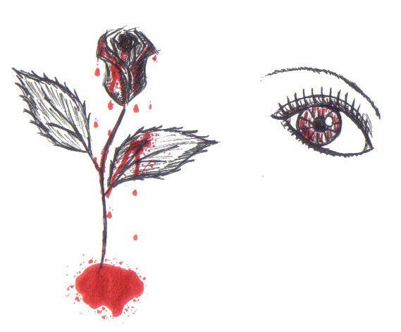 Bloody Rose My Drawings In 2019 Rose White Roses Art