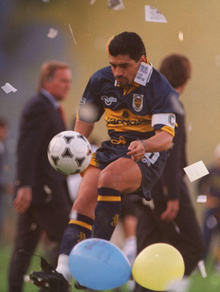 Diego en su segunda vuelta a Boca Juniors